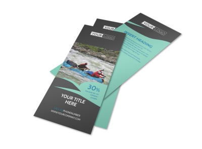 White Water Rafting Flyer Template 2