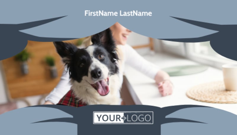 Pet Grooming Business Card Template Preview 2