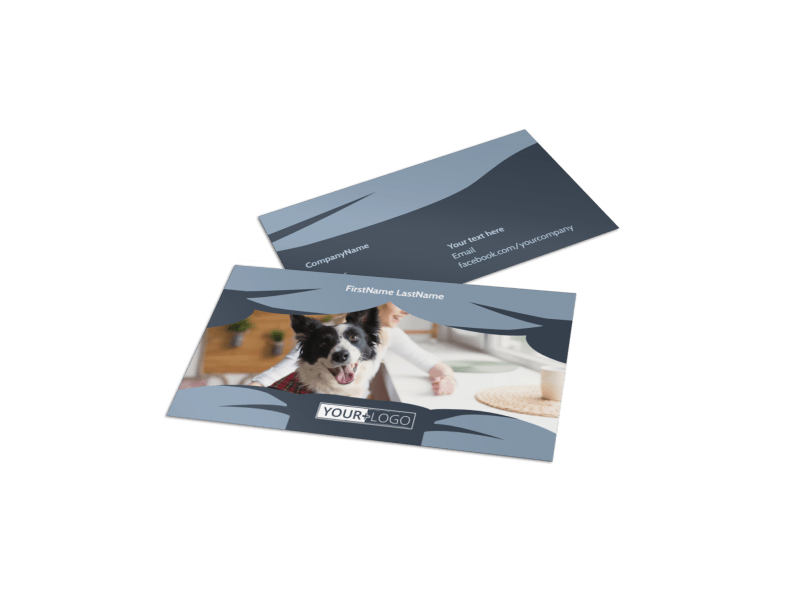 Pet Grooming Business Card Template Preview 1