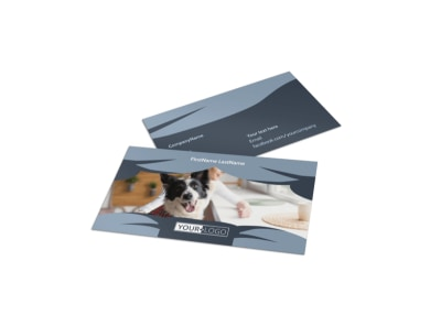 Pet Grooming Business Card Template preview
