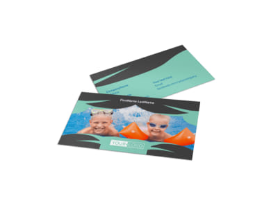 Swimming Lessons Business Card Template preview