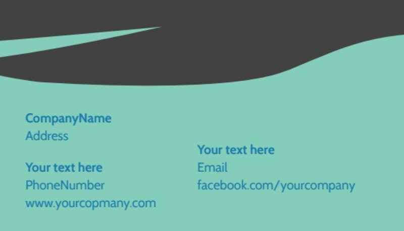 Whitewater Rafting Business Card Template Preview 3