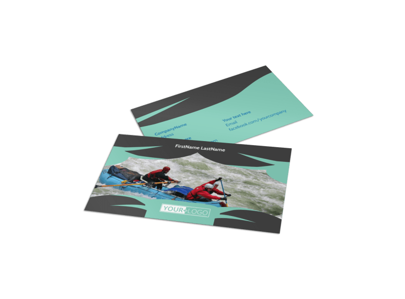 Whitewater Rafting Business Card Template Preview 1
