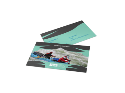 White Water Rafting Business Card Template