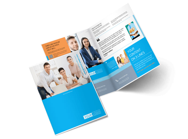 Credit Counseling Bi-Fold Brochure Template 2