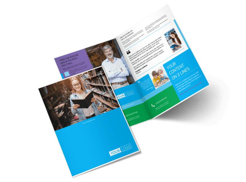 Book Store Bi-Fold Brochure Template 2