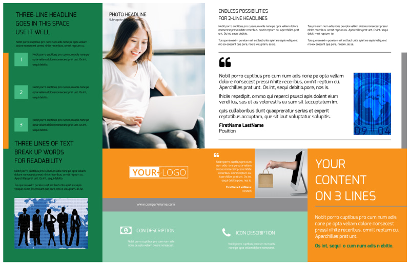 Ecommerce Business Consulting Brochure Template Preview 3