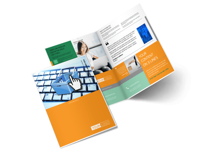 Ecommerce Business Consulting Brochure Template Preview 1