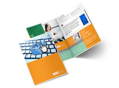 ecommerce business consulting bi fold brochure template 2
