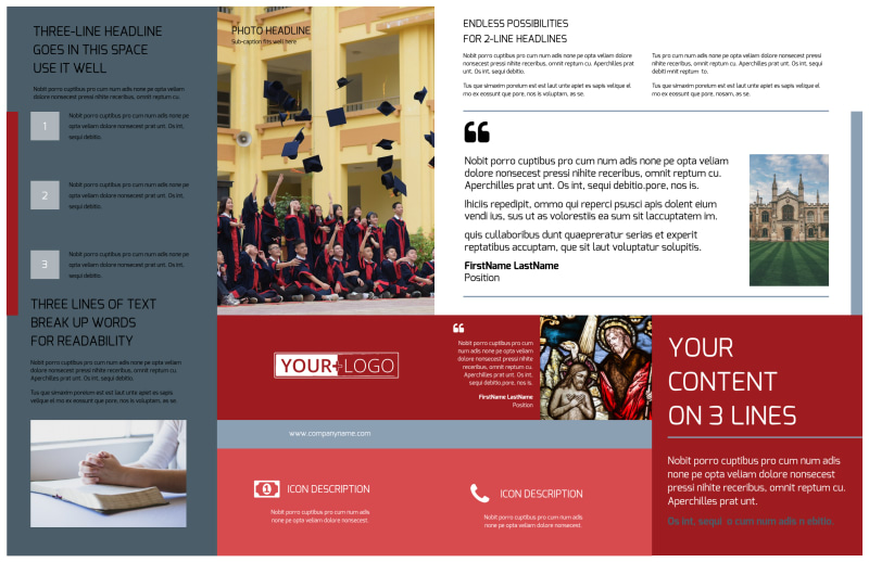 Catholic School Brochure Template Preview 3
