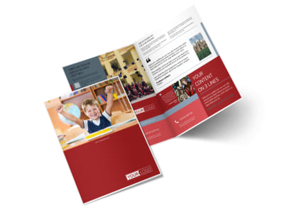 Catholic School Bi-Fold Brochure Template 2