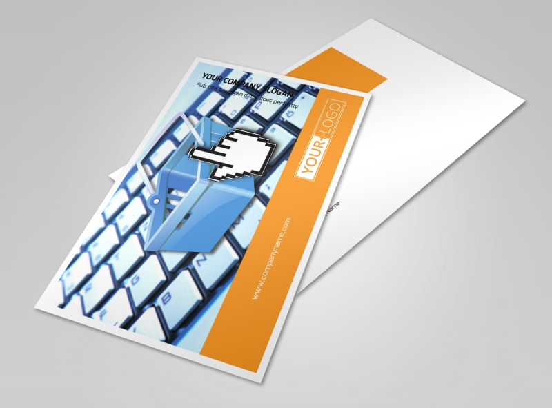 Ecommerce Business Consulting Postcard Template 2