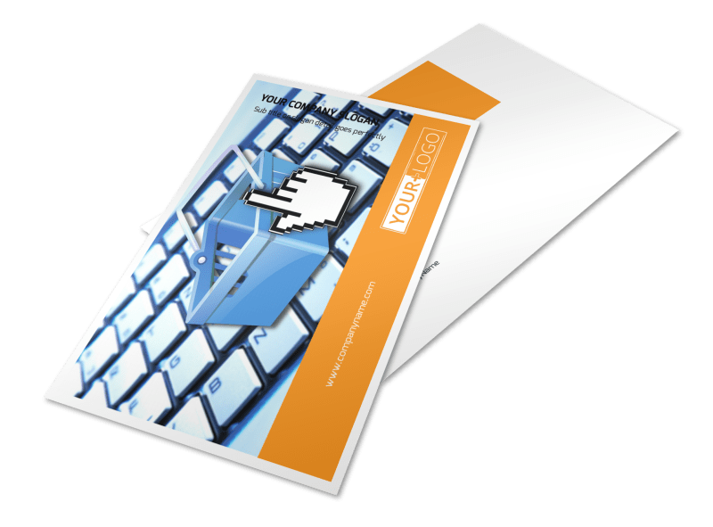 Ecommerce Business Consulting Postcard Template Preview 1