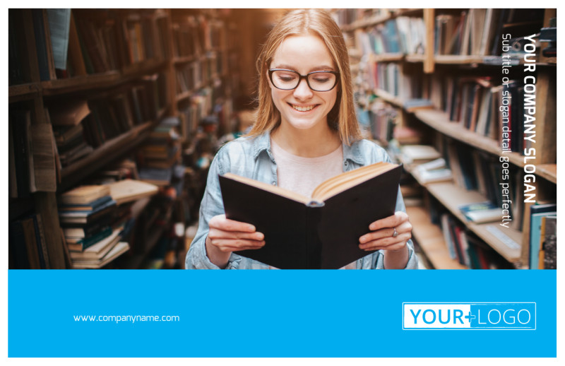Book Store Postcard Template Preview 2