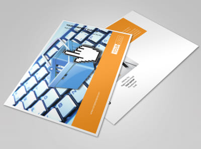 Ecommerce Business Consulting Postcard Template preview