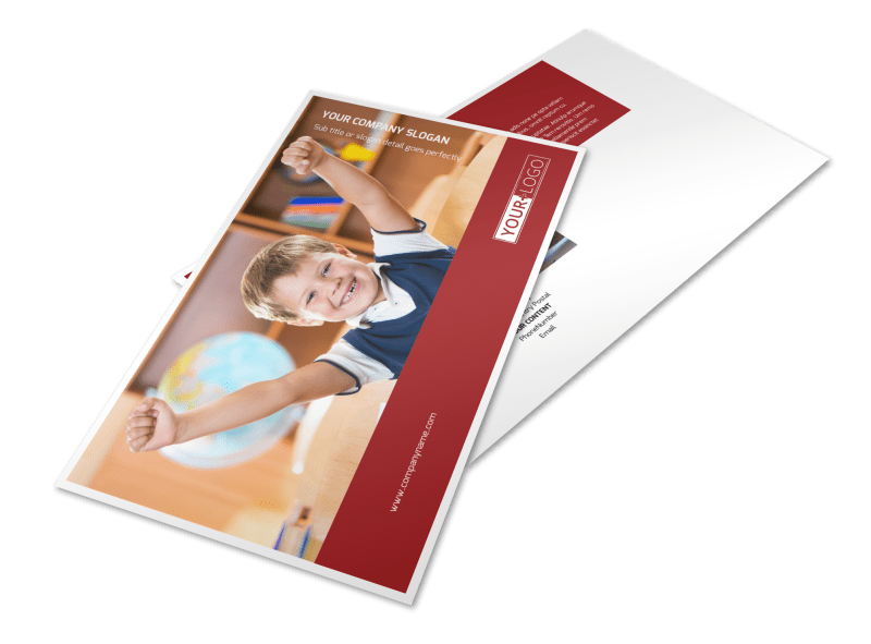 Catholic School Postcard Template Preview 1