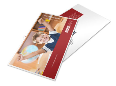 Catholic School Postcard Template preview