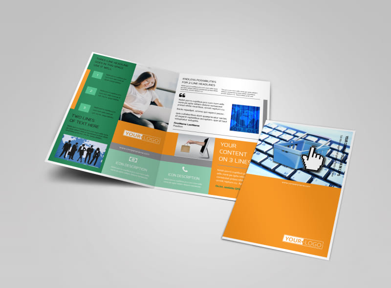 Ecommerce Business Consulting Bi-Fold Brochure Template