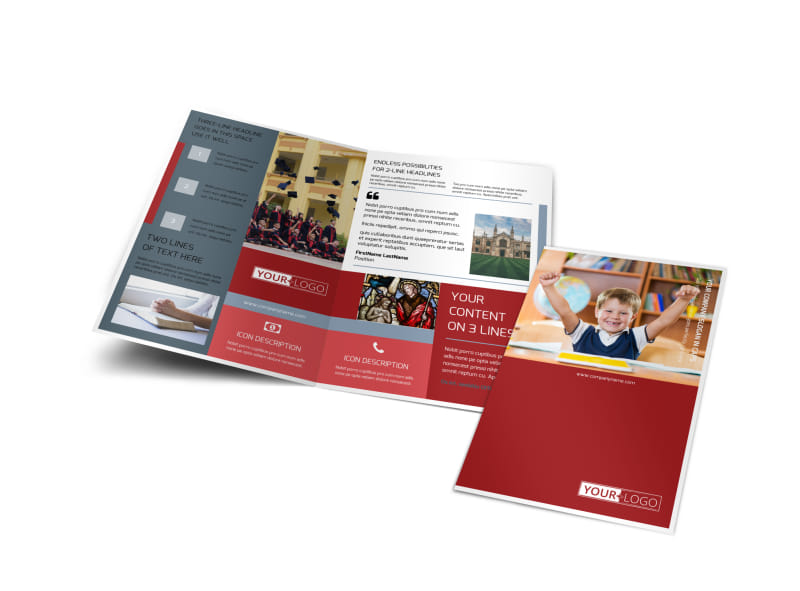 Catholic School Brochure Template Preview 4