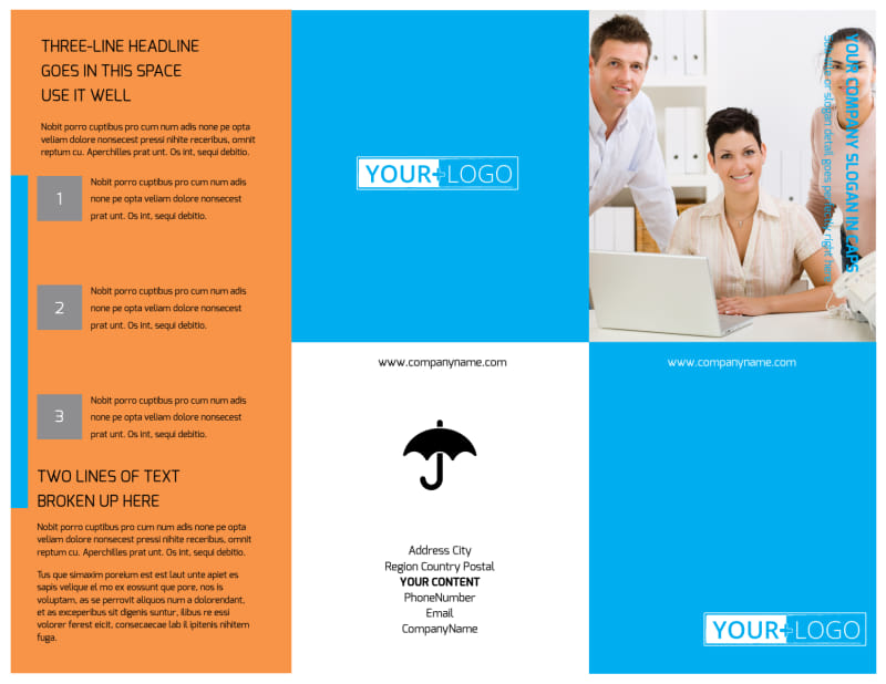 Credit Counseling Brochure Template Preview 2