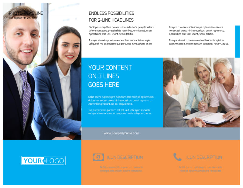 Credit Counseling Brochure Template Preview 3