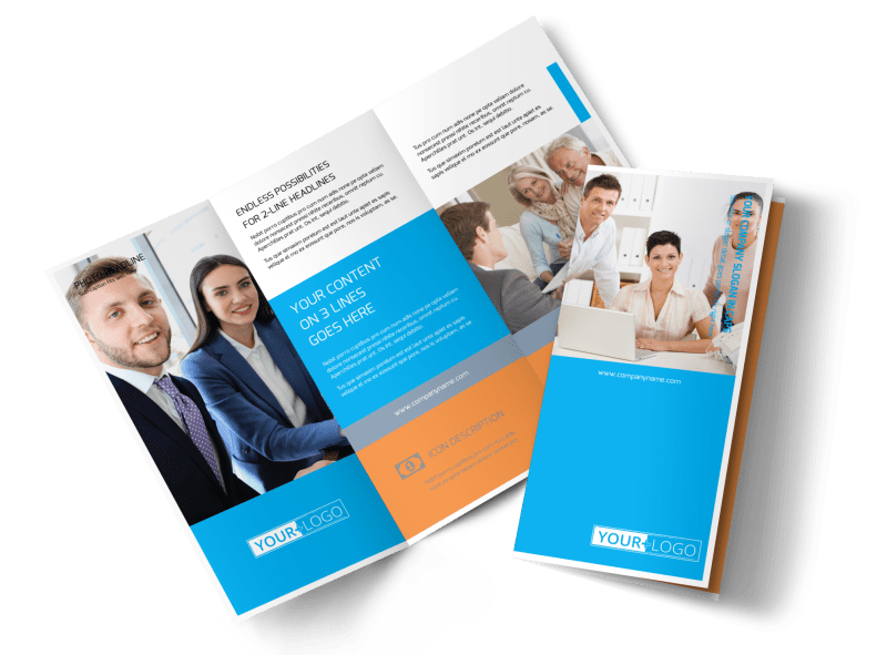 Credit Counseling Brochure Template Preview 1