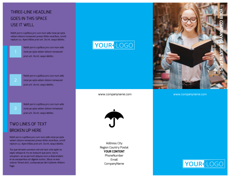 Book Store Brochure Template Preview 2