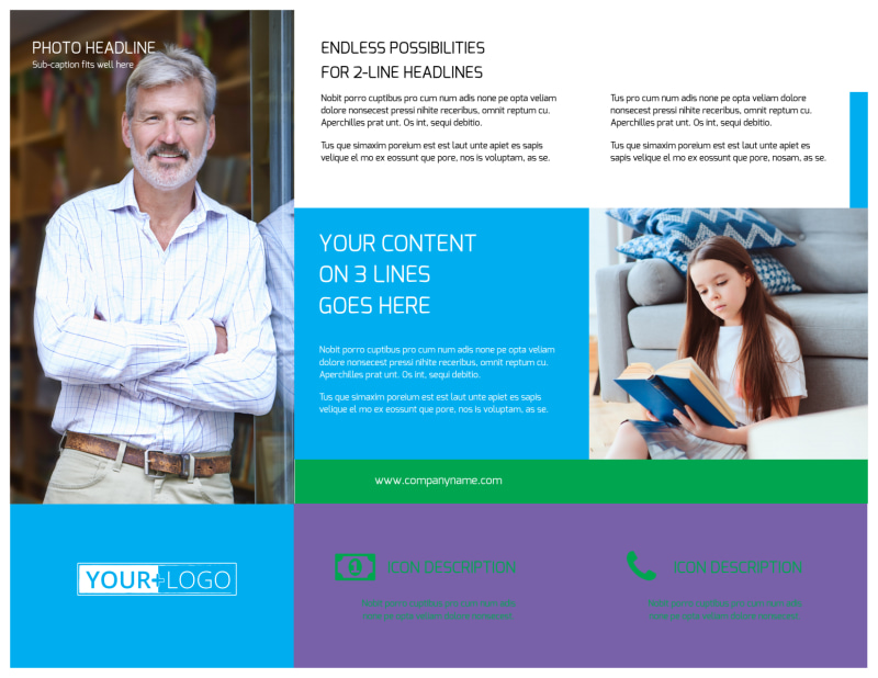 Book Store Brochure Template Preview 3
