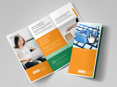 Ecommerce Business Consulting Tri-Fold Brochure Template