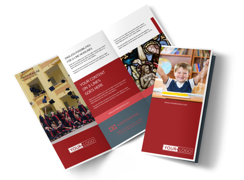Catholic school brochure template mycreativeshop for Tri fold school brochure template