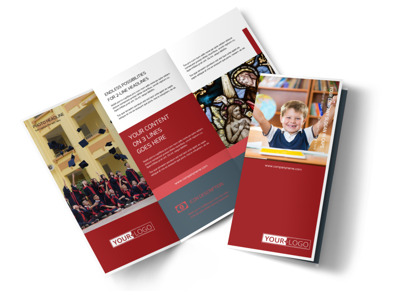 Catholic School Brochure Template Preview 1