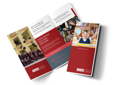 Catholic School Tri-Fold Brochure Template