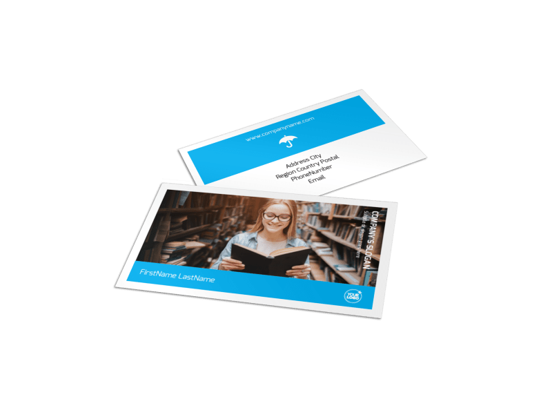 Book Store Business Card Template Preview 1