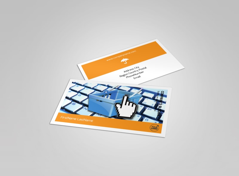 Ecommerce Business Consulting Business Card Template