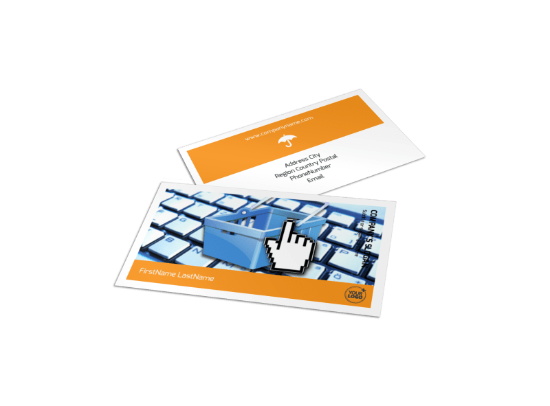 Ecommerce Business Consulting Business Card Template Preview 1