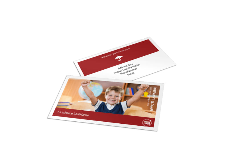 Catholic School Business Card Template