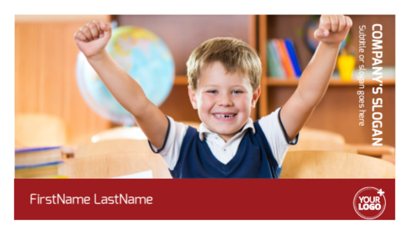 Catholic School Business Card Template Preview 2