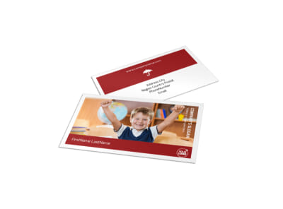 Catholic School Business Card Template preview
