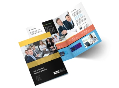 Project Management Consulting Firm Bi-Fold Brochure Template 2