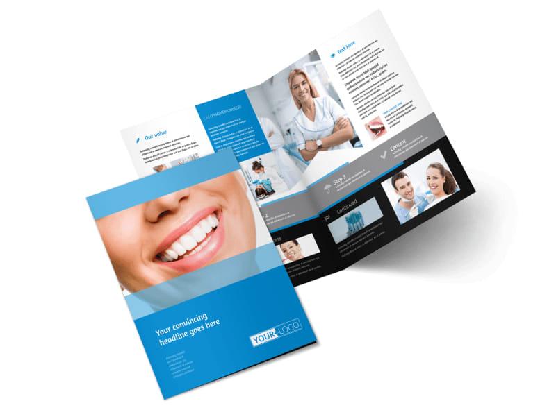 Best Smile Dental Care Bi-Fold Brochure Template 2