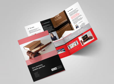Litigation & Transactional Law Firms Bi-Fold Brochure Template 2 preview