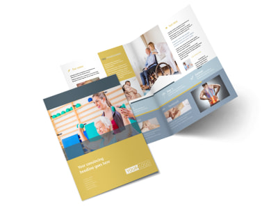 Physiotherapy Bi-Fold Brochure Template 2