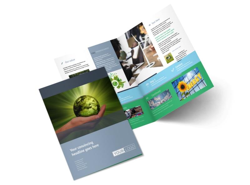 Energy Conservation Consultants Bi-Fold Brochure Template 2