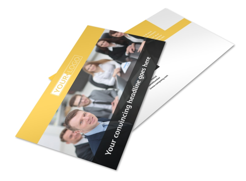 Project Management Consulting Firm Postcard Template 2