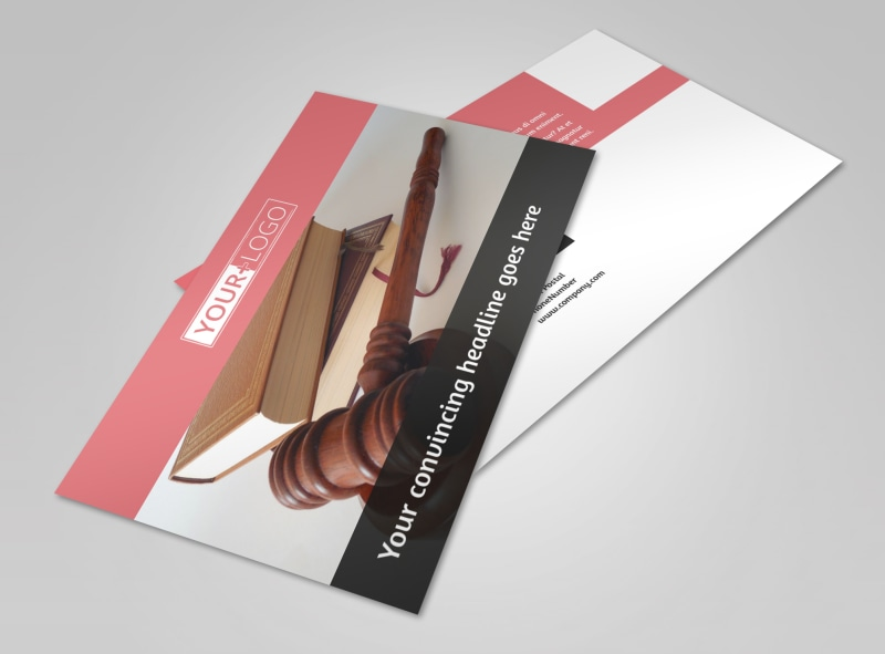 Litigation & Transactional Law Firms Postcard Template 2