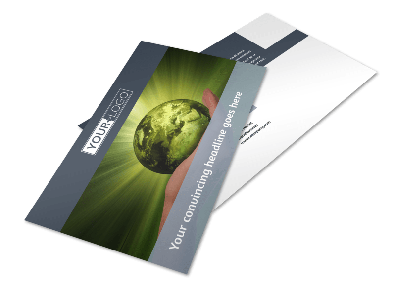 Energy Conservation Consultants Postcard Template Preview 1