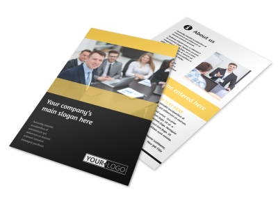 Project Management Consulting Firm Flyer Template 3
