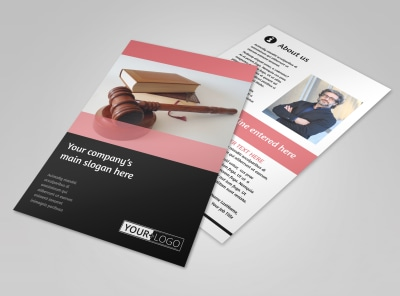 Litigation & Transactional Law Firms Flyer Template 3