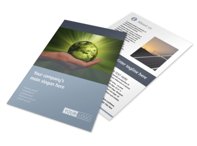 Energy Conservation Consultants Flyer Template 3 preview