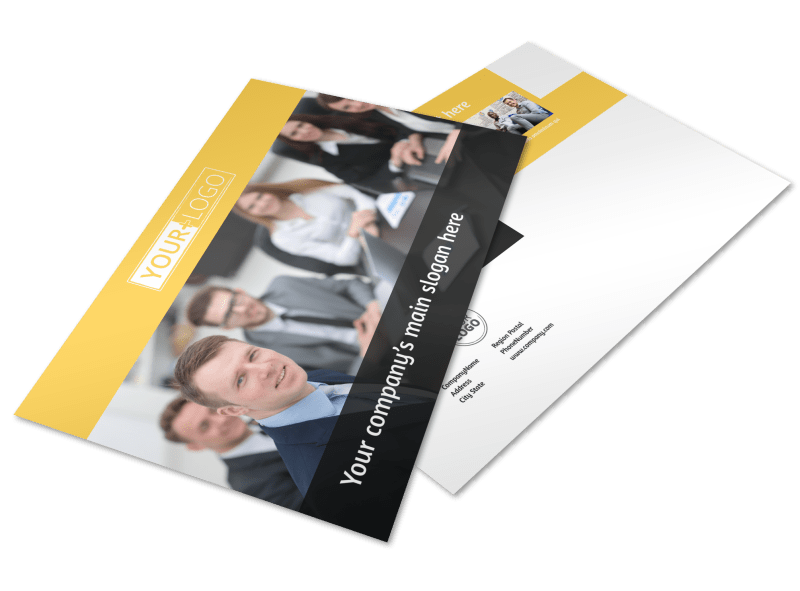 Project Management Consulting Firm Postcard Template Preview 1